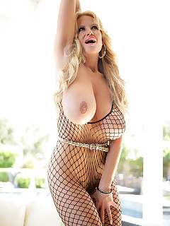 All wrapped up in my fishnet attire, I should be an easy catch, but I'm still willing to strip it off to show you my tits.