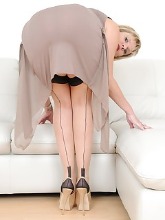 Lady Sonia - Lady Sonia in thigh high nylons
