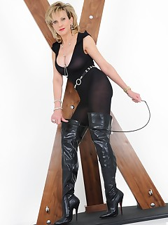 Lady Sonia - Lady Sonia body stocking and thigh boots