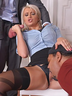Hardcore Interrogation: Squirting Blonde Double Penetrated free photos and videos on DDFNetwork.com
