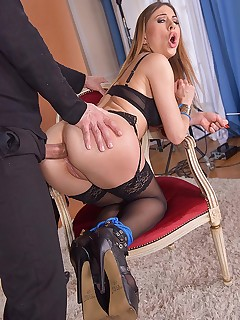 Horny Client's Ass Stuffed Hard free photos and videos on DDFNetwork.com