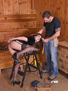 Carpenter's Revenge: Submissive Client Tied Up For Anal Sex free photos and videos on DDFNetwork.com
