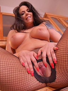 Veggie Rider Delight: Cucumber Satisfies Leggy Babe's Pussy! free photos and videos on DDFNetwork.com