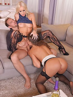 New Years Eve Group Fuck: 5 Gangbang Lovers Love To Party! free photos and videos on DDFNetwork.com