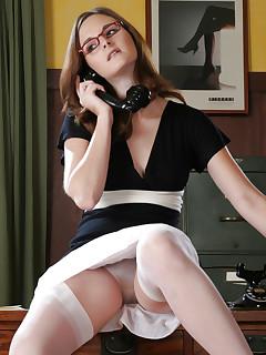 Secretary upskirt