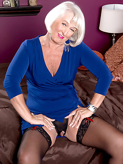 60 Plus MILFs - Ass-fucked devil with a blue dress - Jeannie Lou and Tony D'Sergio (60 Photos)