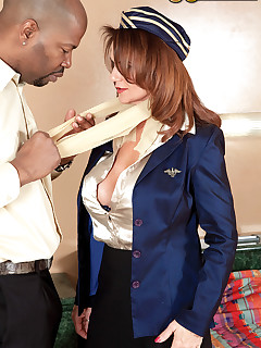 50 Plus MILFs - The Flight Attendant And The Passenger - Deauxma and Lucas Stone (85 Photos)