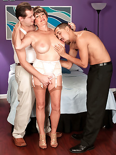 60 Plus MILFs - Bea Cummins Returns...For A Threesome! - Bea Cummins, John Strange, and Juan Largo (59 Photos)