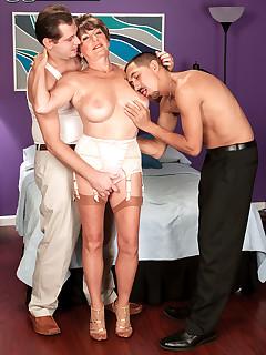 60 Plus MILFs - Bea Cummins Returns...For A Threesome! - Bea Cummins, John Strange, and Juan Largo (59 Photos)