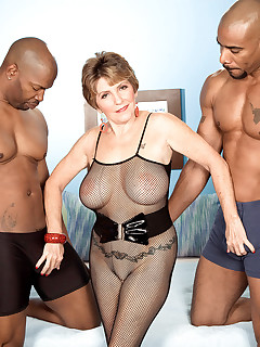 60 Plus MILFs - Two Big, Black Cocks For Bea Cummins! - Bea Cummins, Asante Stone, and Lucas Stone (46 Photos)