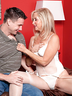 50 Plus MILFs - The Joys Of Anal Sex - Connie McCoy and Shane (46 Photos)