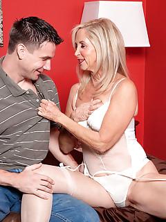 50 Plus MILFs - The Joys Of Anal Sex - Connie McCoy and Shane (46 Photos)