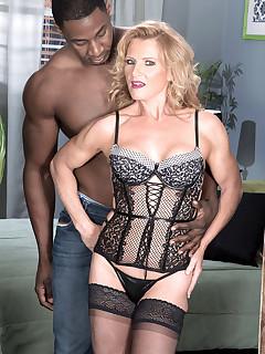 50 Plus MILFs - Now 50something, Amanda enjoys an interracial ass-fuck - Amanda Verhooks and Jax Black (62 Photos)