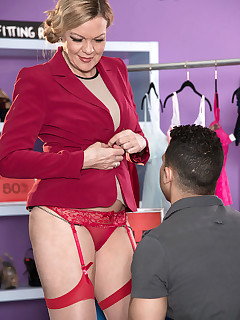 50 Plus MILFs - Lena's first time - Lena Lewis and Rocky (42 Photos)