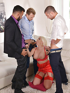 New & Horny - 3 Massive Cocks Bang Tight Asshole And Wet Pussy free photos and videos on HandsonHardcore.com