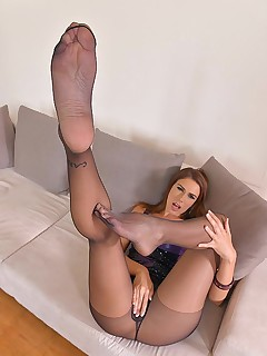 Legs To Die For: Russian Bombshell Loves Shoe Play free photos and videos on HotLegsandFeet.com