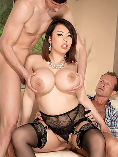 Scoreland - DP Anal SuperFuck - Tigerr Benson, George, and Kristof Cale (90 Photos)
