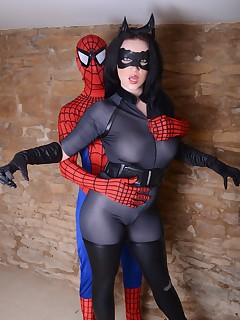 Catwoman V Spiderman by Cosplaybabes.XXX