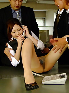 Hot secretary Iroha Kawashima gets drilled | Japan HDV