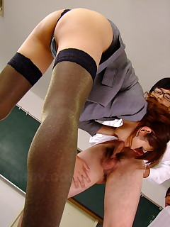 Arousig Yuno Hoshi gets nailed in class hard | Japan HDV