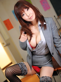 Hot Japanese brunette teacher Kyoushi Kan | Japan HDV